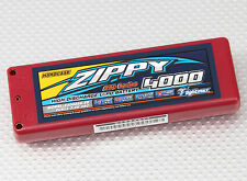 Zippy 4000mAh 2S 7.4V 25C 30C Hardcase Car Lipo Battery ROAR Approved 4mmBullet