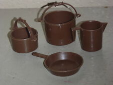 Vintage Mattel BIG JIM SPORTS Camping Pots, Skillet & Coffee Pot - 1973