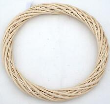 "Wicker / Willow Wreath Ring- LightWillow 12""(30cm) dia.-Single"