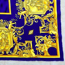 vintage GIANNI VERSACE velvet fabric panel Golden Baroque & Animal print 52 x 53
