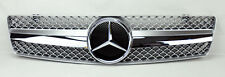 "Mercedes SL Class R129 ""SLS Style"" Front Silver & Chrome Hood Sport Grill W129"