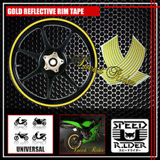 GOLD REFLECTIVE RIM TAPE WHEEL STRIPE TRIM CAR BIKE BICICYLE DECAL 16 17 18 19
