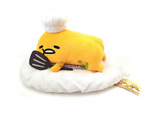 FuRyu Sanrio Gudetama Lazy Egg Cook 15'' Cute Cushion Plush ~ AMU7269 Face Down