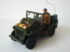 GATE CODE 3 ARMY WILLYS JEEP & FIGURES WW2 EXCELLENT (BS1229)