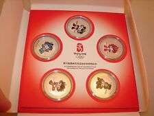 Limited Edition 2008 Beijing Olympics Mascot Coin Set Silver Plated Bronze/hat