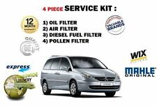 FOR CITROEN C8 2.0HDi  7/2006-  SERVICE KIT OIL AIR FUEL POLLEN (4) FILTER KIT