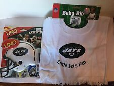*GIFT PACK* New York Jets UNO Special Edition Card Game & Adjustable Baby Bib