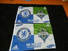 "Seattle Sounders Flags USA Tour 2012 CHELSEA FC Samsung pennant 36""x24"" Adidas-2"