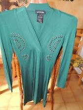 Robe verte hiver taille 36 /38 manches longues Nathalie Chaize