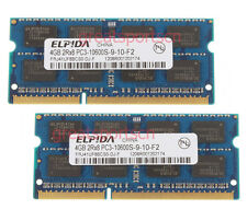 ELPIDA 8GB 2X 4GB DDR3 1333MHz 2Rx8 PC3-10600S 204pin SO-DIMM Memory Laptop RAM
