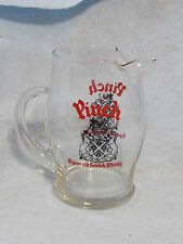 Pinch 12 Year Old Scotch Whiskey 6.5 inch clear glass water pitcher Clean