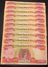 250,000 IRAQI DINAR UNCIRCULATED NICE AND CRISP NOTES 10 X 25000