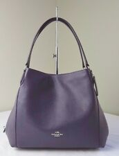 Coach 36464 Aubergine Purple Pebble Leather Edie 31 Shoulder Bag