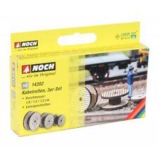 """NOCH 14202 H0 1:87 Taglio Laser mini """"Bobine cavi"""" nuovo in confezione originale"""