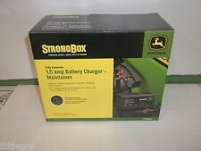 NEW JOHN DEERE BATTERY CHARGER AND MAINTAINER 1.5 AMP STAND ALONE UNIT