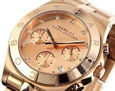 * Nuevo * MARC BY MARC JACOBS Ladies Watch MBM3102-Blade Rosa Oro Cronógrafo