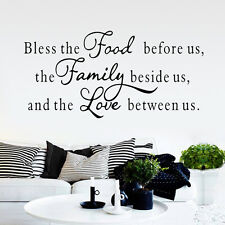Bless The Food Before Us The Family Beside Us Vinyl Wall Sticker God Decor