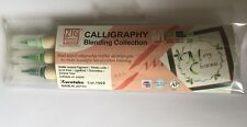 Zig Calligraphy Blending Green Markers Flush Dual Tipped 2.0mm 5.0mm 3PK