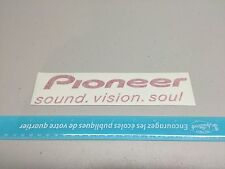"8"" Pioneer sound system red vision soul VINYL DECAL STICKER CAR BUMPER"