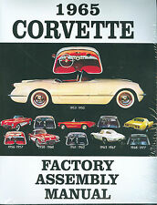 1965 CORVETTE  FACTORY ASSEMBLY MANUAL-BOUND