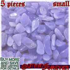 5 Small 10mm Free Ship Tumbled Gem Stone Crystal Natural - Agate Blue Lace