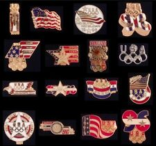 Collection/Lot/Set of 16 USOC mini sz Olympic Pin Badge~Flag~Great Deal-Traders