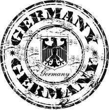 "Germany COA Stamp Bumper Sticker 5"" x 5"""