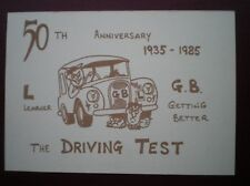 POSTCARD CAR 75TH ANNIVERSARY OF THE DRIVING TEST