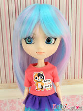 "【HT-02CS】Pullip Taeyang DAL 8.0~9.5"" HP Wigs(Multicolored)# Violet+Blue+Pink"