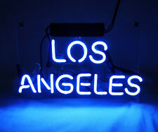 """ LOS ANGELES "" Home Wall Lamp Room Bed Poster Cola NEON Light Sign 12""x4 TN036"