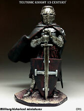 Teutonic knight, Tin toy soldier 54 mm, figurine, metal sculpture HAND PAINTED