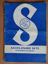 Handbuch Betriebsanleitung Einstellung Wartung Daten Sachs Stamo 50 75 1959