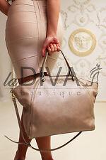 TOSCA BLU ~ Italy Designer Leder Tasche Reptil taupe nude Real Leather Bag