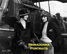 BILLIE DOVE 8X10 Lab Photo 1920s with an AVIATRIX & AIRPLANE PORTRAIT