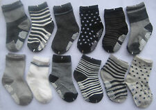 Bulk...12P TODDLER Baby Boys Cotton Socks Anti-slip Strip/Socks 1 2 3