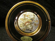 The art of chokin or 24ct petit plaque japon diamètre 10cm