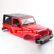 Red Hard Plastic 1:10 BODY SHELL for RC Model Climbing Car Land Rover Wrangler