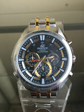 newstuffdaily: NIB CASIO EF537SG-1AV Edifice Two Tone Chronograph Watch