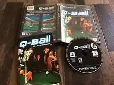 Q-Ball: Billiards Master (Sony PlayStation 2, 2000) Used Free US Shipping