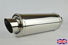 Yamaha R1 1998-2002 Demon Polished Stainless Stubby Moto GP Exhaust + Baffle