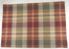 PLACEMAT 13X19 COUNTRY PLAID COTTON SAFFRON BY PARK DESIGNS