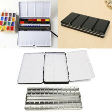 Hot 1Pc Portable Watercolor Color Case Empty 48 Storage Palettes Painting tools