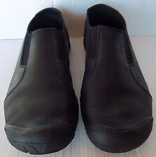 Men's KEEN Black Leather Slip On Loafer Walking Hiking Shoe -- Size 12 US