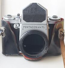 Pentacon Six Camera Medium Format 6x6 SLR Body with case Tested!