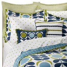 ORLA KIELY HOUSE Field Of Flowers Square Applique Toss Pillow Green/Blue/White