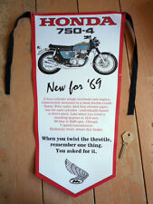 Honda CB750 New for '69 classic motorcycle PENNANT