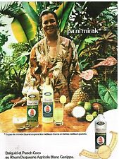 Publicité Advertising 1976 Daiquiri et Punch Coco au Rhum Duquesne