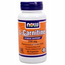NOW Foods L-Carnitine Pharmaceutical Grade 250 mg. - 60 Capsules