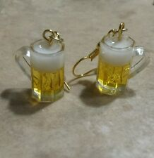 Cute Beer Mug Wire Earrings Drink Jewelry Charm Earrings Unique