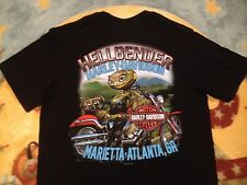 new HELLBENDER HARLEY DAVIDSON men's T-shirt SNAKE PINUP GIRL Medium Atlanta GA
